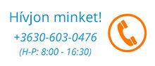 Hívjon minket! +3630 603 0476