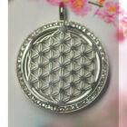 Élet virága nyitható amulett medál strasszokkal