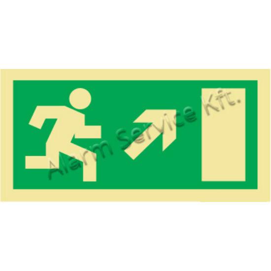 Utánvilágító tábla, vészhelyzeti jel M0138