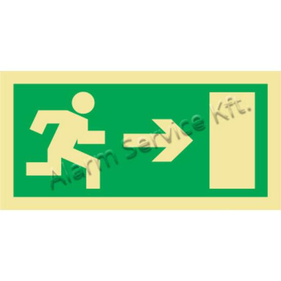 Utánvilágító tábla, vészhelyzeti jel M0139