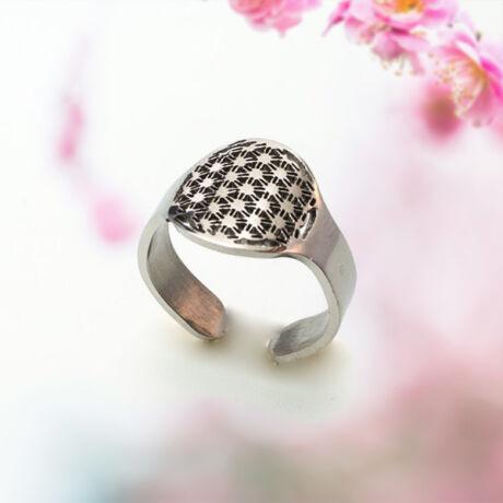 Élet Virága gyűrű L méret, 15 mm