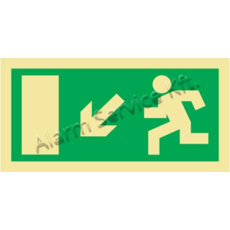 Utánvilágító tábla, vészhelyzeti jel M0133