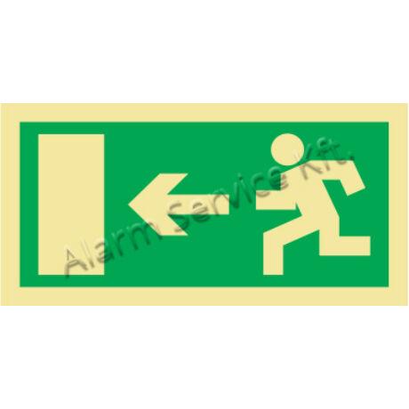 Utánvilágító tábla, vészhelyzeti jel M0134