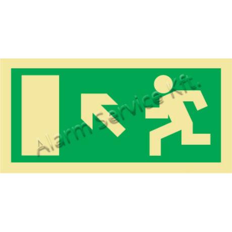 Utánvilágító tábla, vészhelyzeti jel M0135