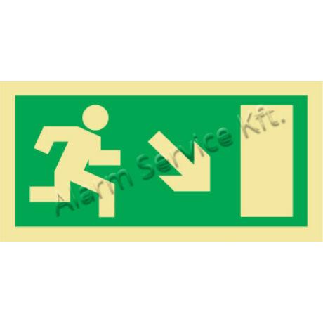 Utánvilágító tábla, vészhelyzeti jel M0140