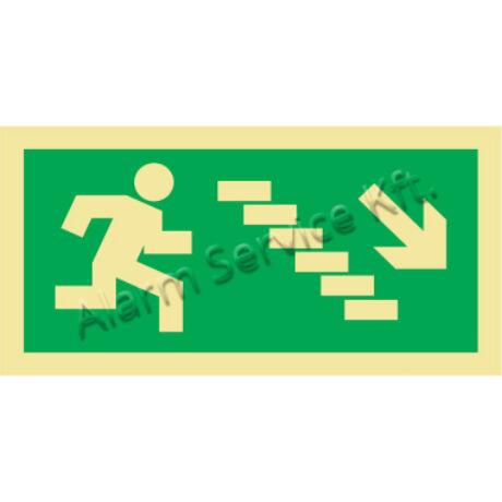 Utánvilágító tábla, vészhelyzeti jel M0144