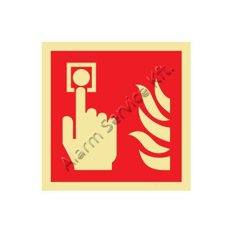 Utánvilágító tábla, tűzvédelmi jel M1201
