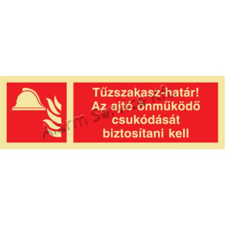 Utánvilágító tábla, tűzvédelmi jel M1415